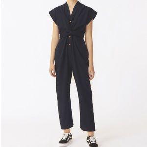 Heinui Marin jumpsuit in Japanese indigo cotton